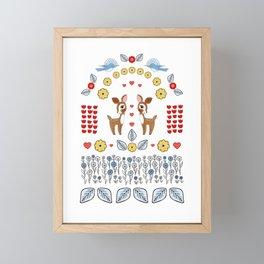 Flora and Fawn-a Framed Mini Art Print