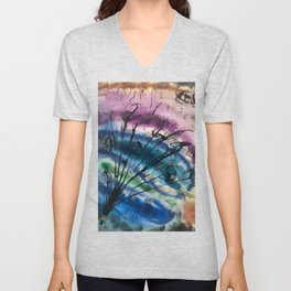 Colorful Abstract Bouquet Unisex V-Neck