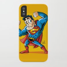 Strong man in Costume iPhone X Slim Case