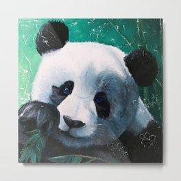 Panda - A little peckish - by LiliFlore Metal Print