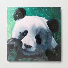 Panda - A little peckish - by LiliFlore Metal Print
