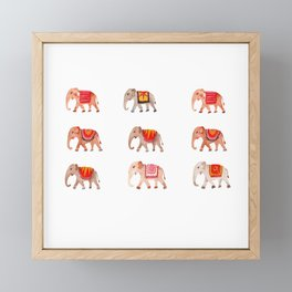 Ethenic Elephants Trail Framed Mini Art Print
