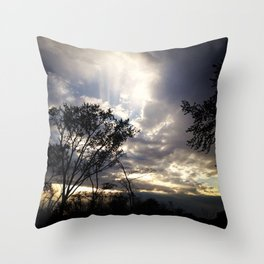 Peaceful and powerful sunset Throw Pillow