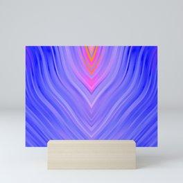 stripes wave pattern 3 mag Mini Art Print