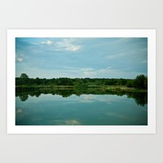 Lake Reflections. Art Print