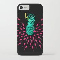 pineapple iPhone & iPod Cases featuring Pineapple by mark ashkenazi