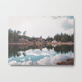 mirrored lake Metal Print