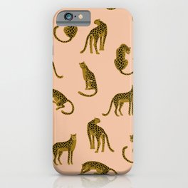 Blush Leopard Pattern iPhone Case
