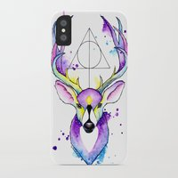 harry potter iPhone & iPod Cases featuring Harry Potter Patronus by Simona Borstnar