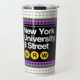 subway nyu sign Travel Mug