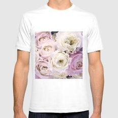 Romantic Roses Mens Fitted Tee White MEDIUM