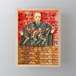 Build The Wall Framed Mini Art Print