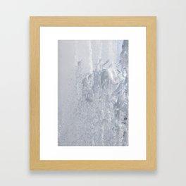 Splashing fountain Framed Art Print