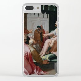 Abraham Bloemaert - Joseph and his Brothers (1595) Clear iPhone Case
