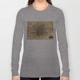 Vintage Map of Dublin Ireland (1797) Long Sleeve T-shirt