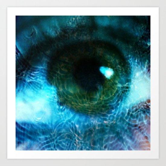 Water Eye Art Print