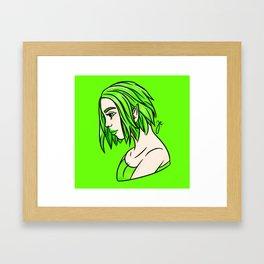neon green elf Framed Art Print