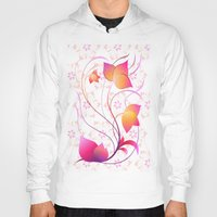 floral pattern Hoodies featuring Floral Pattern  by Robin Curtiss
