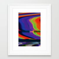 glitch Framed Art Prints featuring Glitch by Simon Langlois