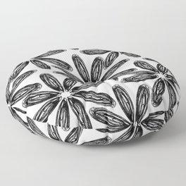 Ballpoint Flower Pattern Floor Pillow