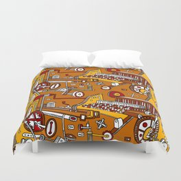 Looming Large Duvet Cover