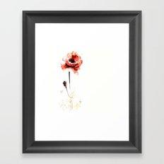 watercolor poppy Framed Art Print