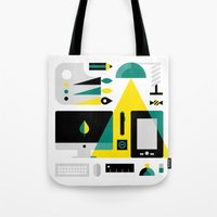kit king Tote Bags featuring Designer's Kit by koivo