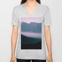 glitch mountains Unisex V-Neck