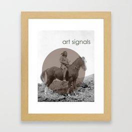 art signals  Framed Art Print