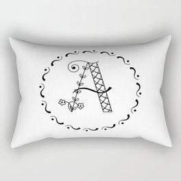 A botanical monogram. Rectangular Pillow