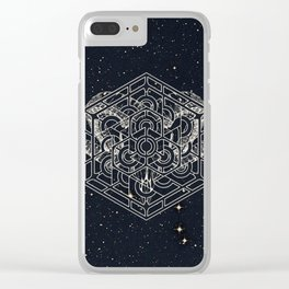 Cosmic Horn Geometry Clear iPhone Case