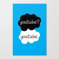 youtube Canvas Prints featuring YouTube? by samonstage_lyrics