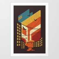 street Art Prints featuring Street by The Child