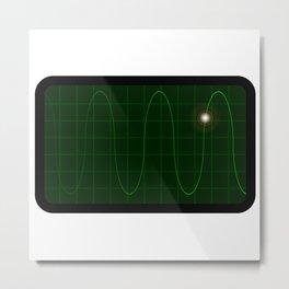 Oscilloscope Metal Print