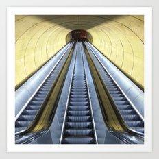 Retro Metro Art Print