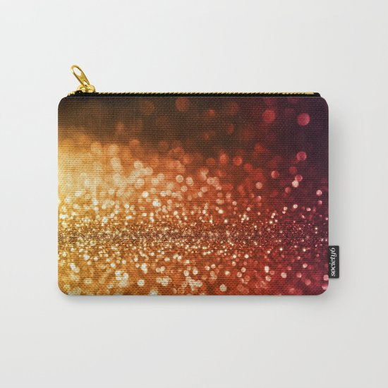 Fire and flames - Red and yellow glitter effect texture on #Society6 Carry-All Pouch