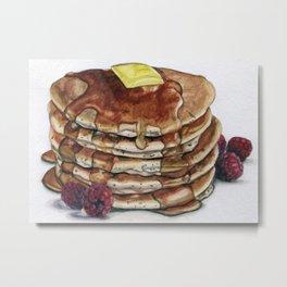 Pancakes w/ Raspberries Metal Print