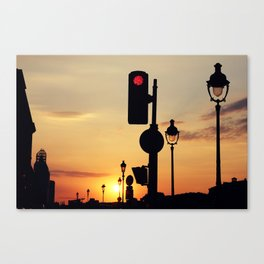 Stop and look at the sunset Canvas Print