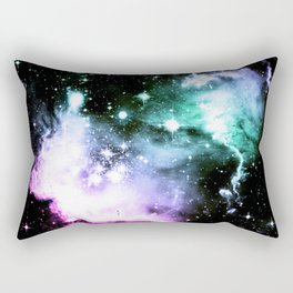 Fuchsia Periwinkle Mint Galaxy Rectangular Pillow