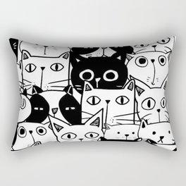 MONOCHROME CAT PATTERN Rectangular Pillow