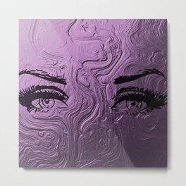 Super purple glam lashes Metal Print