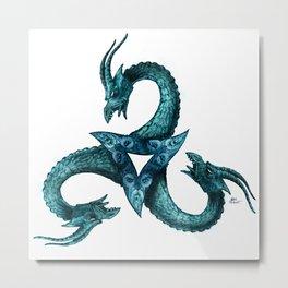 Dragon Triskell Metal Print