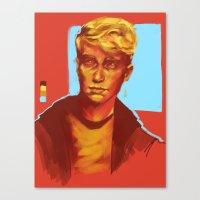 kieren walker Canvas Prints featuring Kieren Walker by charlotvanh