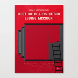 No900 My Three Billboards Canvas Print