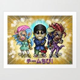 Chibi crew Art Print