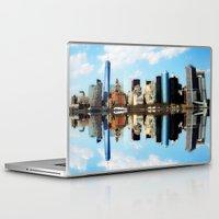 new york Laptop & iPad Skins featuring New York New York by haroulita