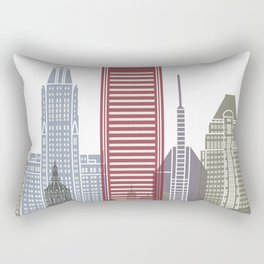 Baltimore V2 skyline poster Rectangular Pillow