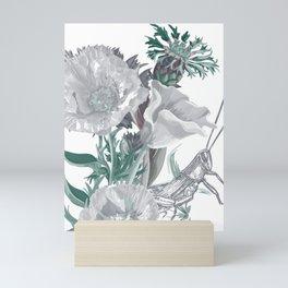 Grasshopper, I poppy love you too much too. Mini Art Print