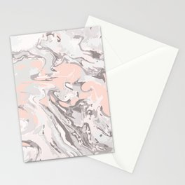 Effect Marble pink Stationery Cards