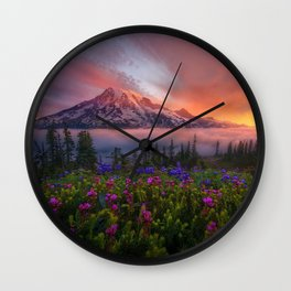 Pictures Zion National Park USA Crag Nature canyons Mountains Rock Cliff Canyon mountain Wall Clock